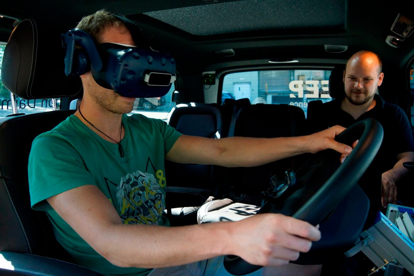 Randomly-selected truck drivers are being given the chance to try out prototype technologies in a mobile test lab
