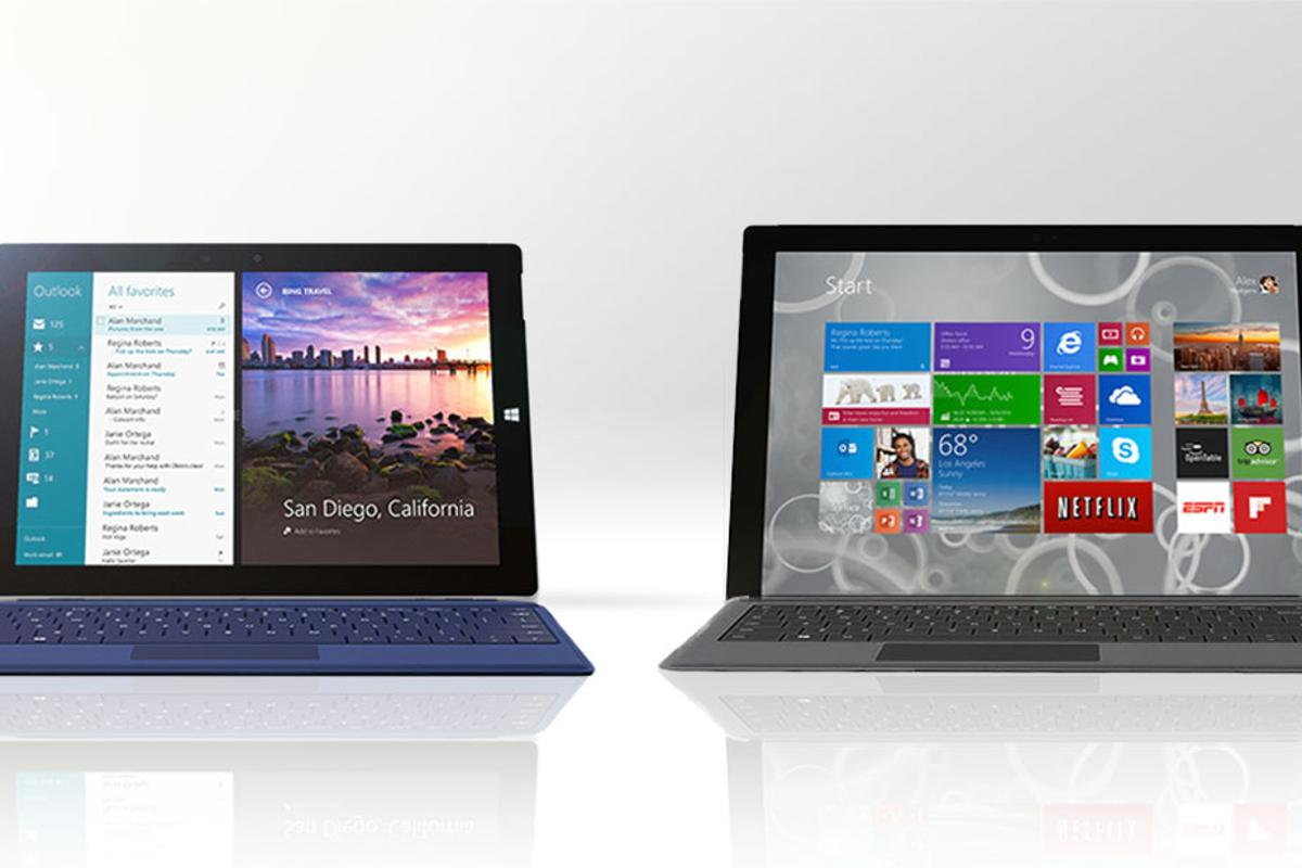 Gizmag compares the features and specs of the new Microsoft Surface 3 (left) with the more powerful Surface Pro 3