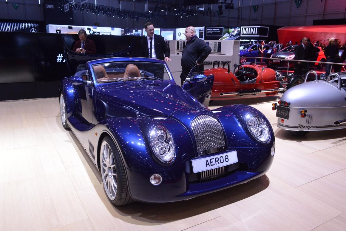 The new Gen 5 Morgan Aero 8 with the top down (Photo: C.C. Weiss/Gizmag.com)