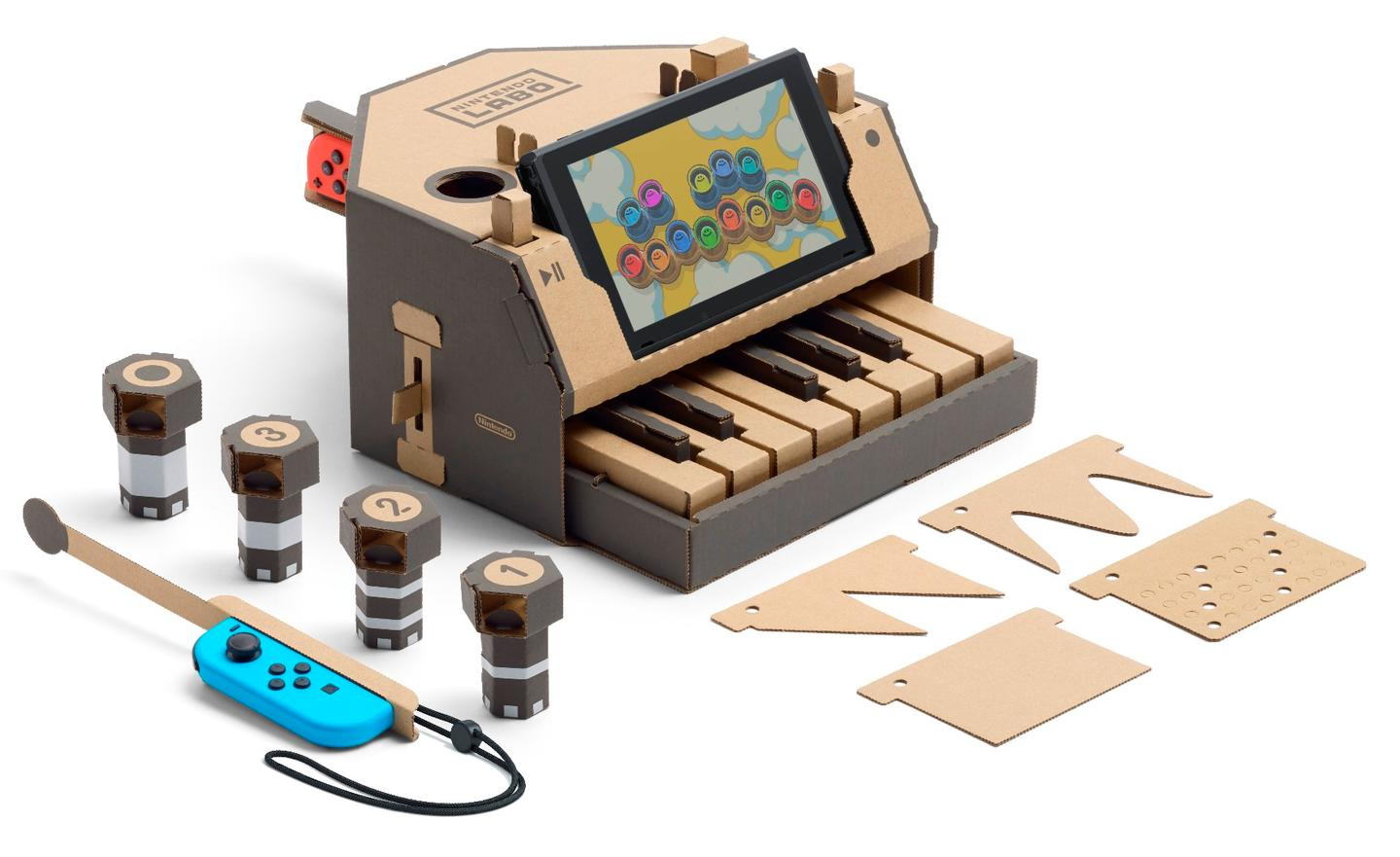 The Nintendo LaboToy-Con Piano plays different tones for differentkeys