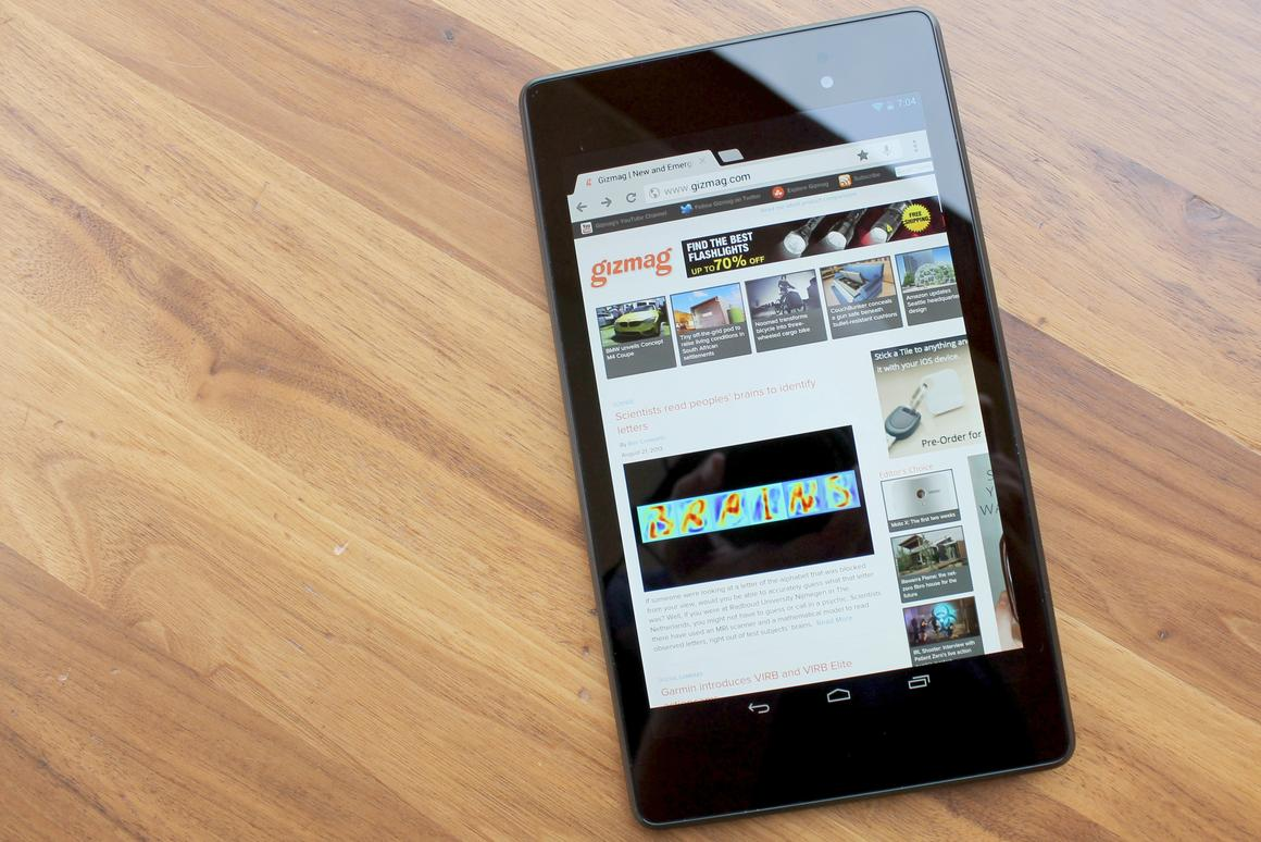 Gizmag reviews the updated 2013 version of Google's Nexus 7, the first tablet to combine an ultra-portable form factor with a Retina-like display