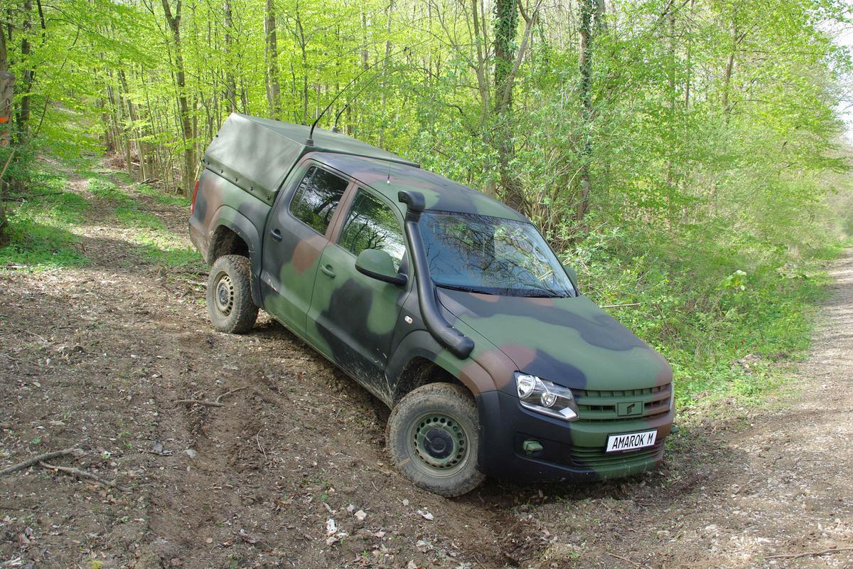 The Volkswagen Amarok prepares for battle (Photo: Rheinmettal AG)