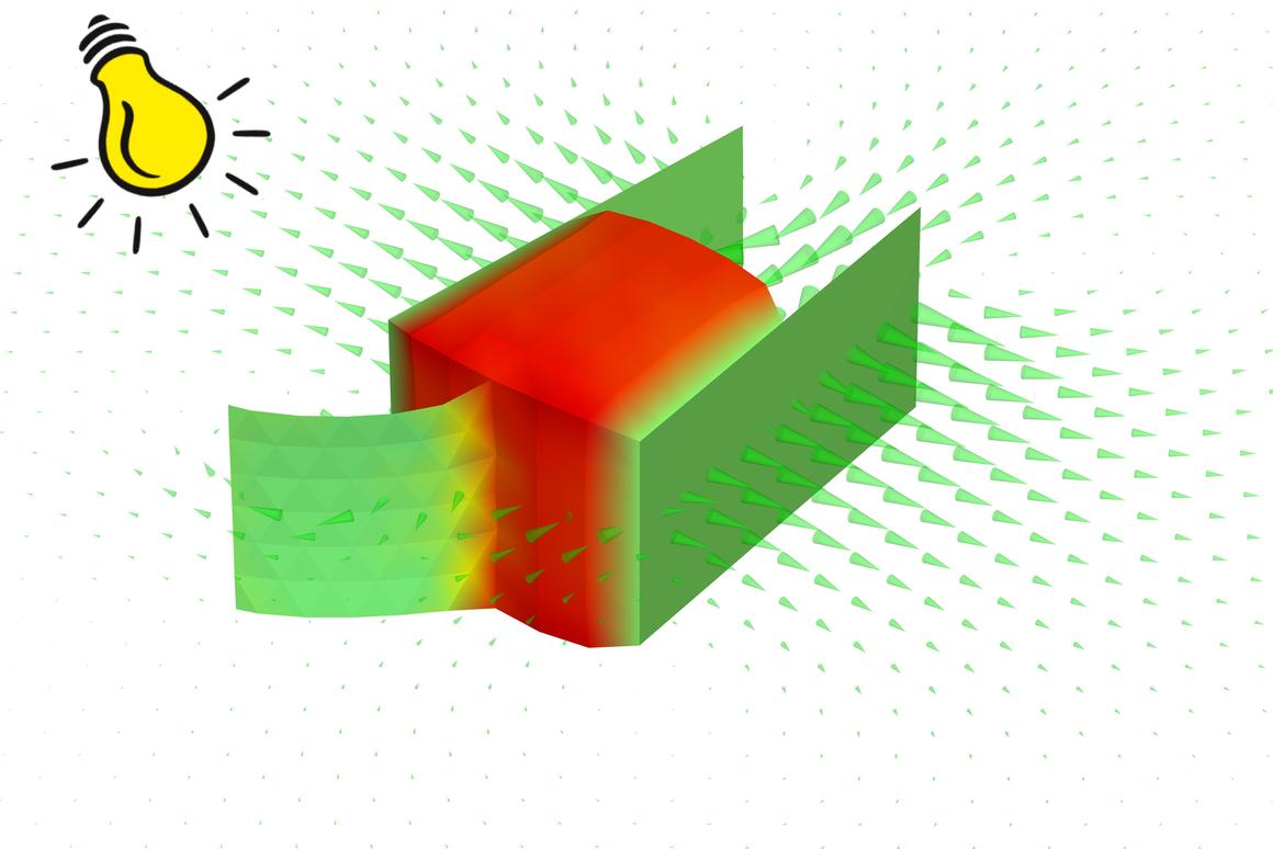 Illustration of how the micron-scale swimming robot responds to light (Image: Alexander Alexeev/Georgia Tech)