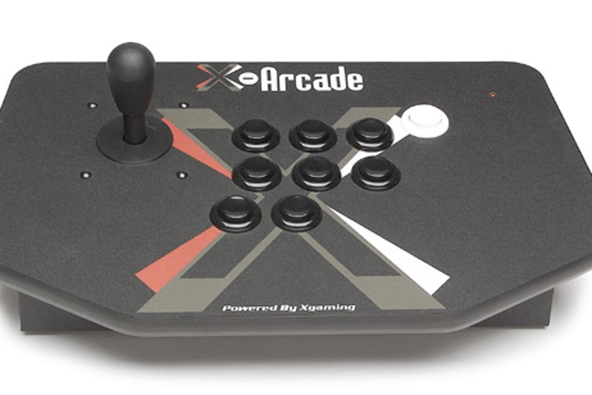 The X-Arcade Solo features nine buttons for authentic arcade play