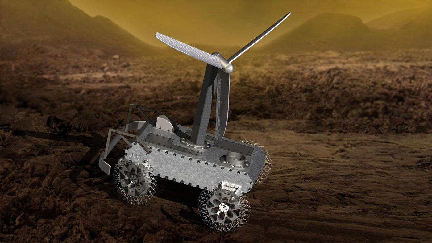 An artist's impression of the AREE rover