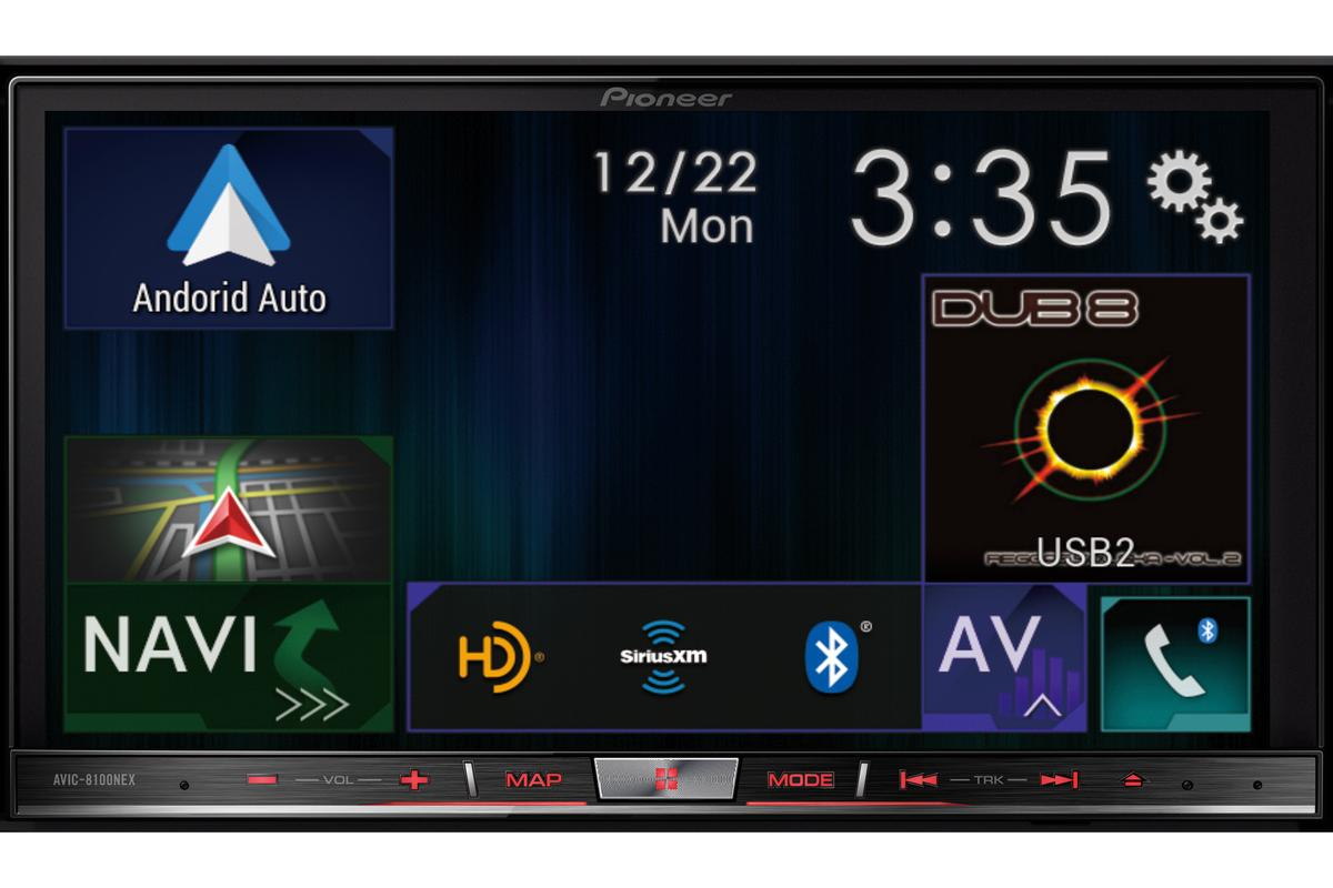The new Pioneer NEX head unit supports Apple CarPlay and Android Auto