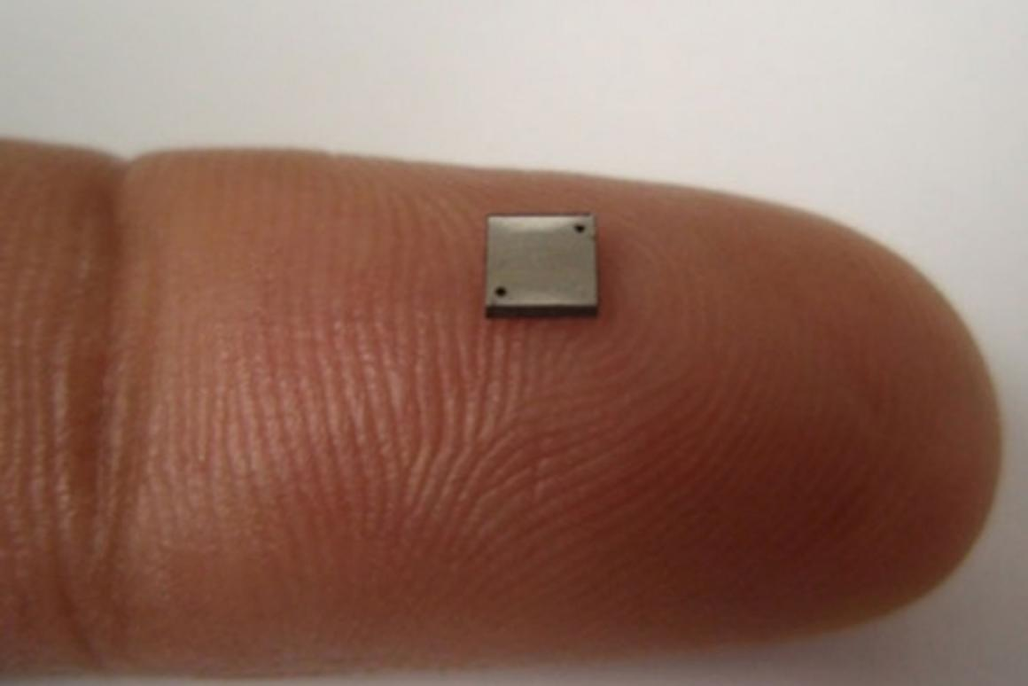 The world's smallest working fuel cell. (Image: Saeed Moghaddam via NewScientist)