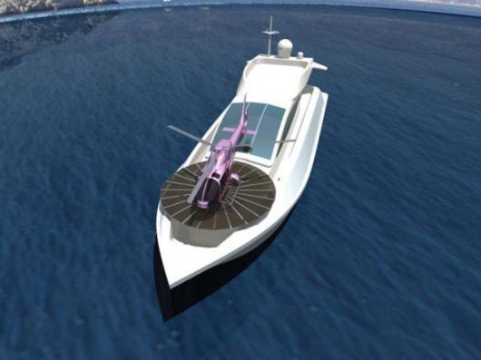 Headland's retractable helipads for yachts