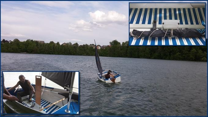 With a few modifications, the Origo boat can become a sailing boat