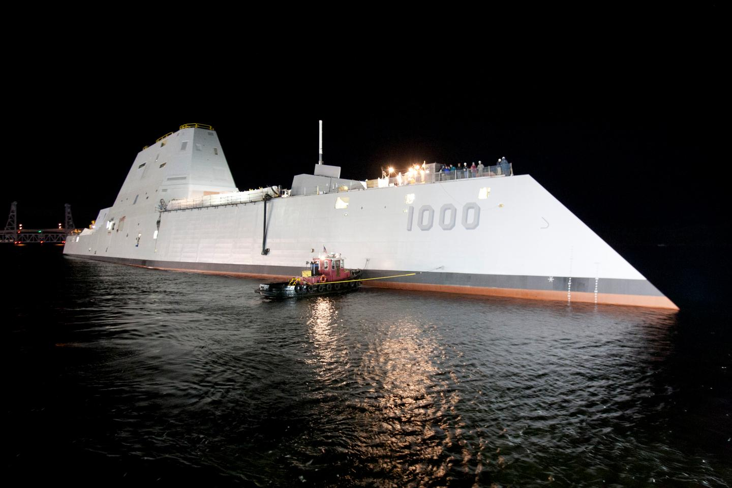 Spinel windows can have applications as electro-optical/infrared deckhouse windows in the new class of US Navy destroyers, like the USS Elmo Zumwalt pictured (Photo: US Navy courtesy of General Dynamics)