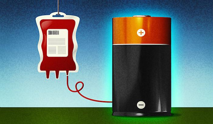 Researchers at Yale have found that heme, a molecule found in blood, can improve the efficiency of lithium-oxygen batteries