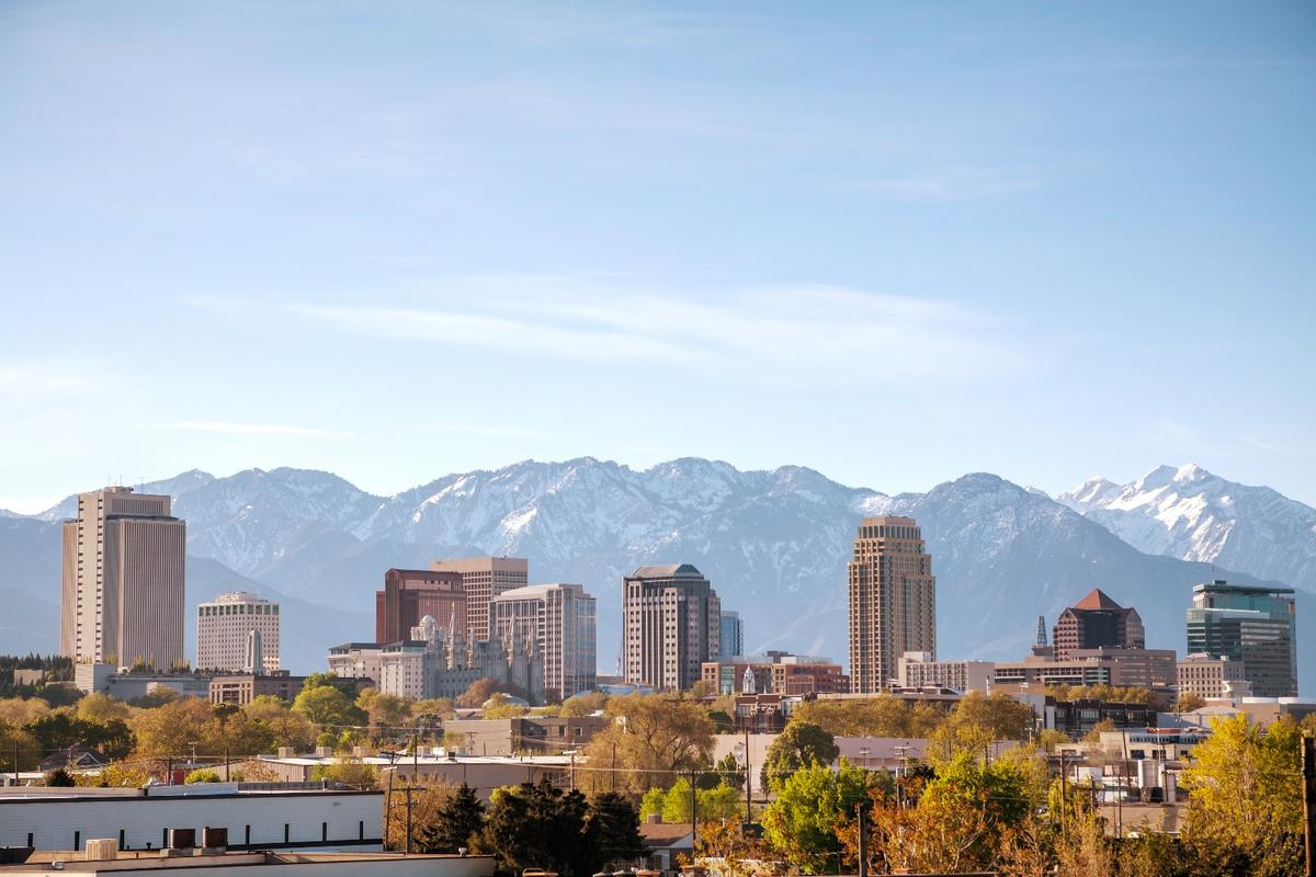 Utah's high-elevation capital, Salt Lake City