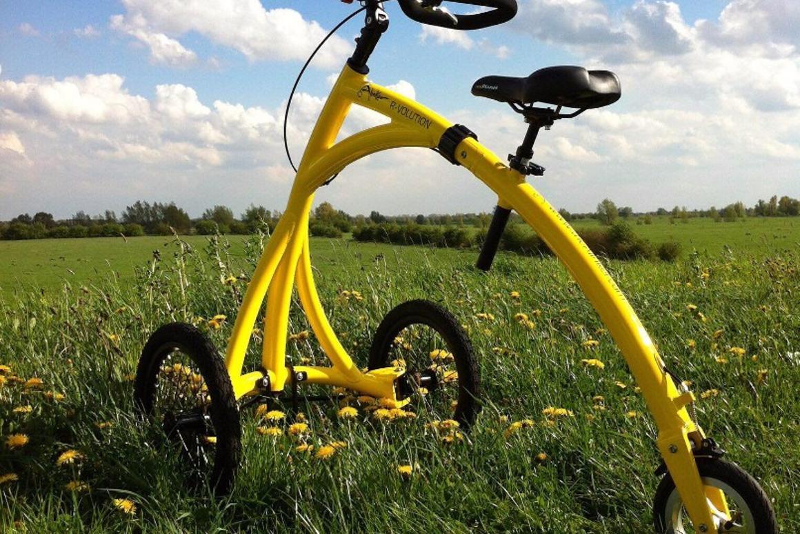 Alinker foldable walking trike provides an upright mobility