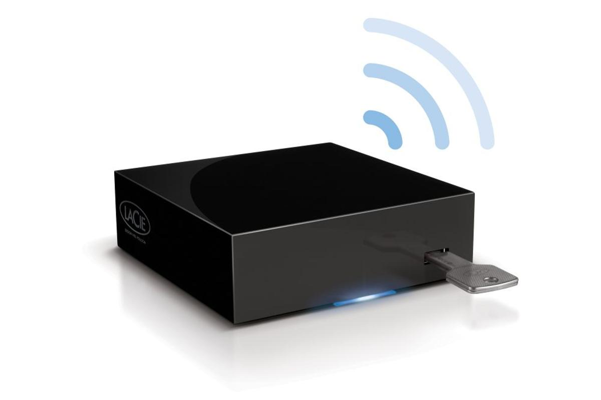 LaCie has unveiled a local network-based bridge unit called the LaPlug, that allows users to share any USB-powered storage drive over a local network