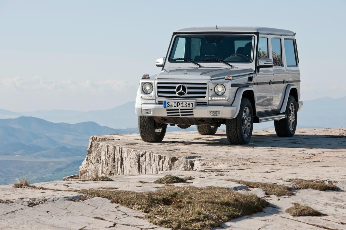 The 2013 G-Class maintains traditional styling with a few subtle updates