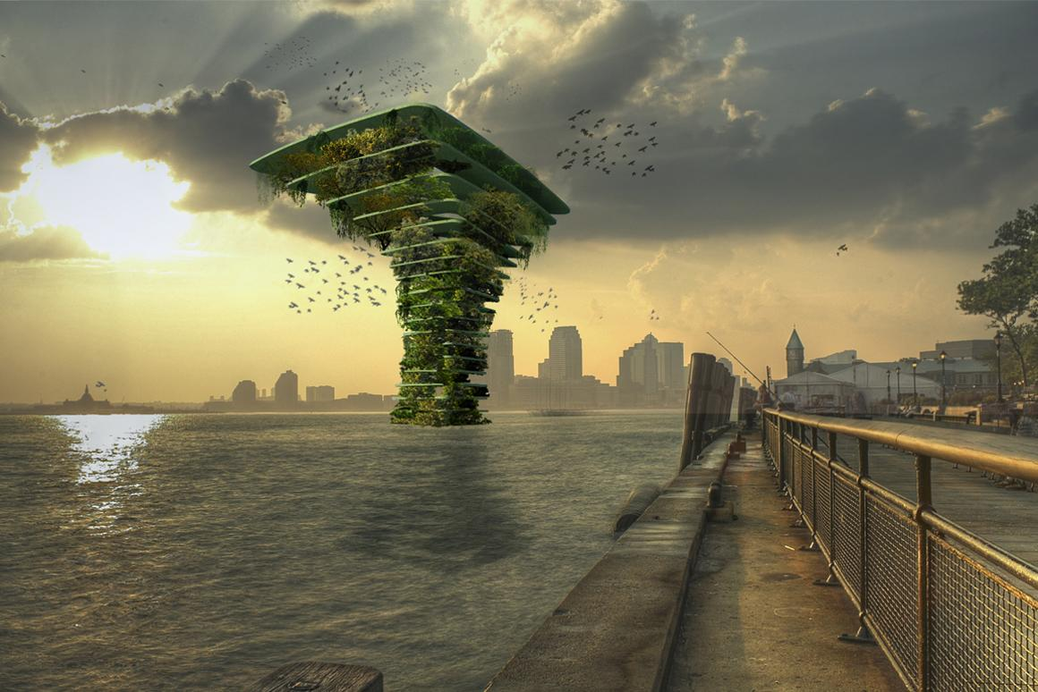 The spectacular Sea Tree concept is designed for flora and fauna where cities have no land left for animals or plants to thrive. The estimated cost is €1 million (US$1.18 million) and the entire structure is tethered to the sea bed by cables