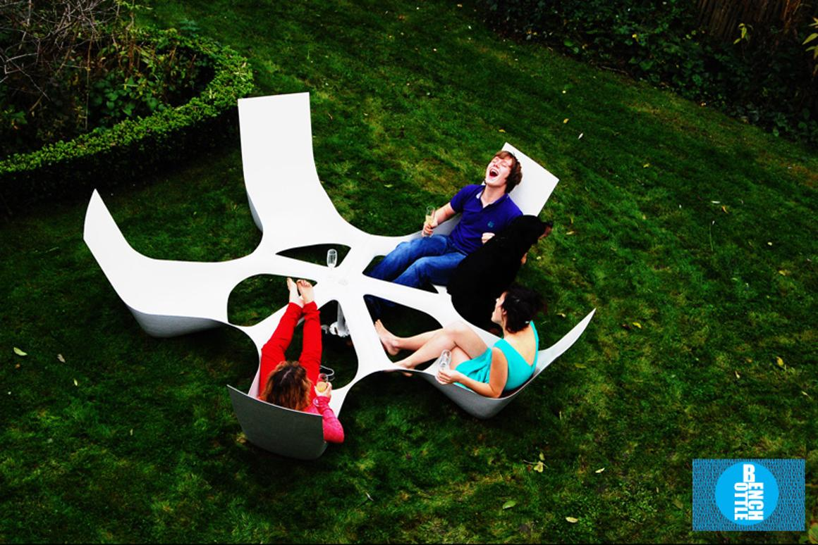 Designer Maarten Pauwelyn has created the Bottlebench outdoor seating set that looks like it would be perfect for long lazy days in the garden