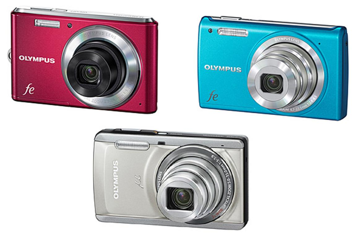 The three new compact point and shoot digital cameras from Olympus, the FE-4050, FE-5050 and u-7050