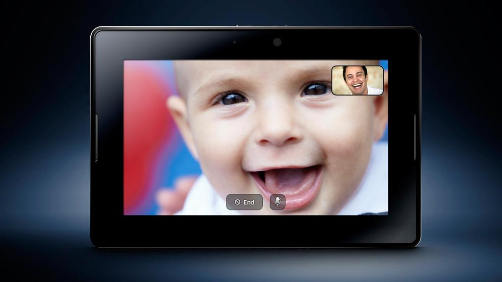 Videoconferencing on the BlackBerry PlayBook
