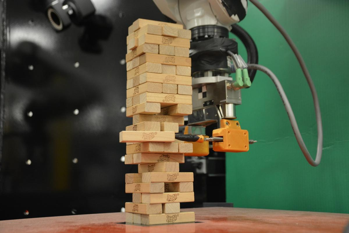 MIT's Jenga-playing robot at work