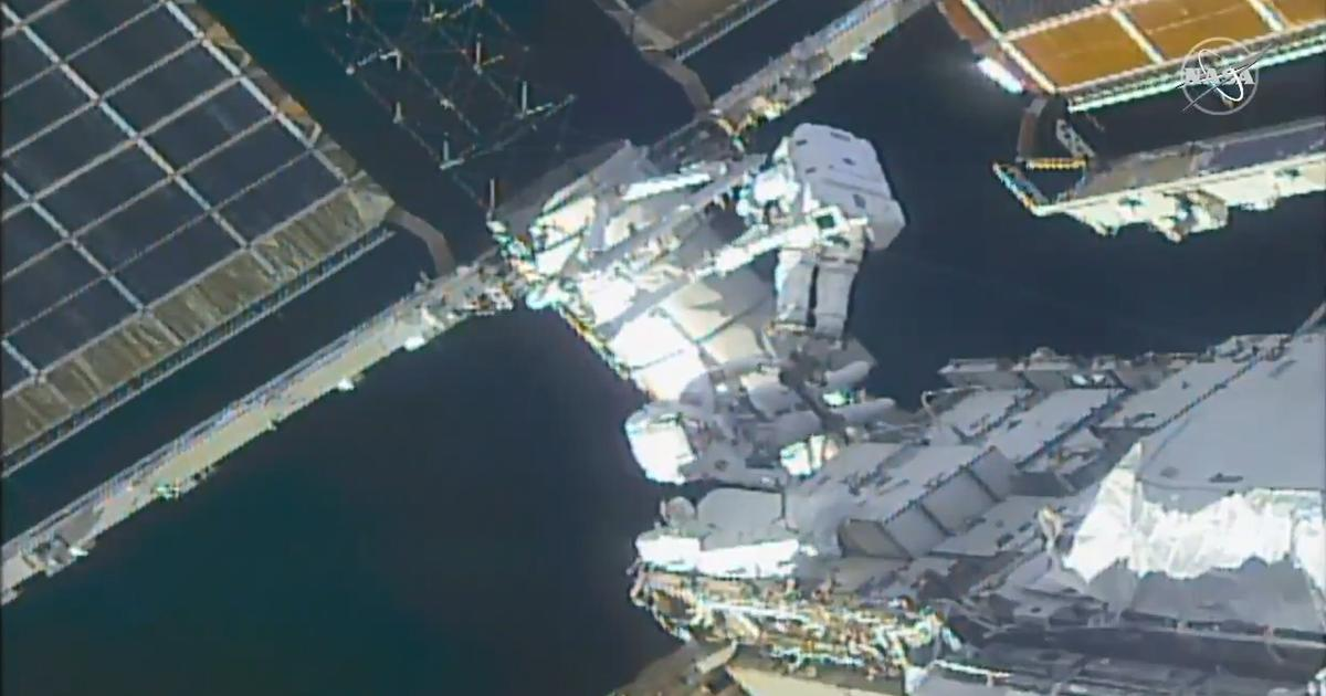 Astronauts undertake 7-hour spacewalk to prepare ISS for new solar arrays