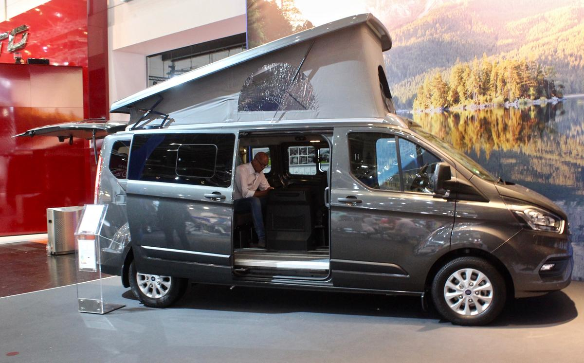 The Flexibus may start low, but it rises quickly - this show model was priced at nearly €61,000