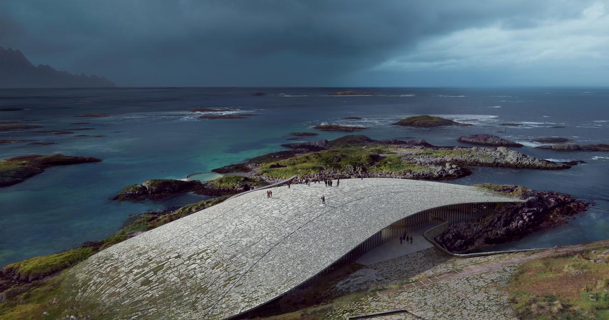 Arctic visitors center looks like part of the Norwegian landscape
