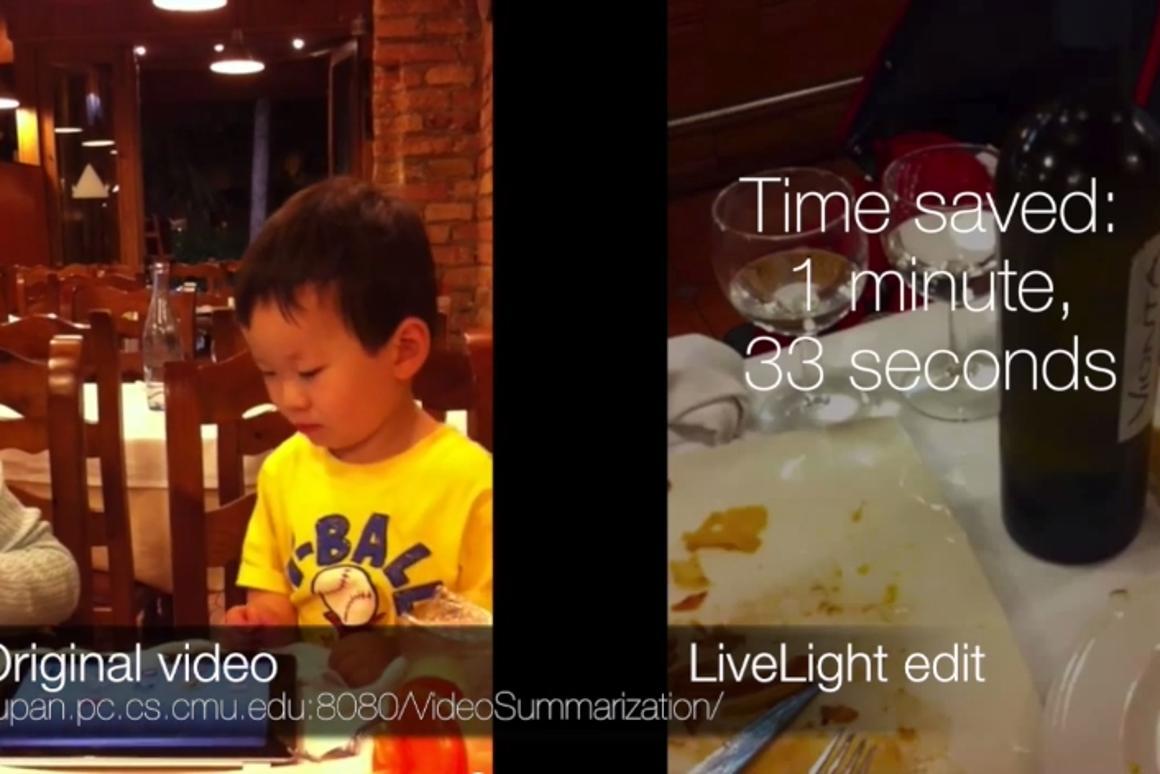 A demonstration of the LiveLight technology (Image: Carnegie Mellon University)