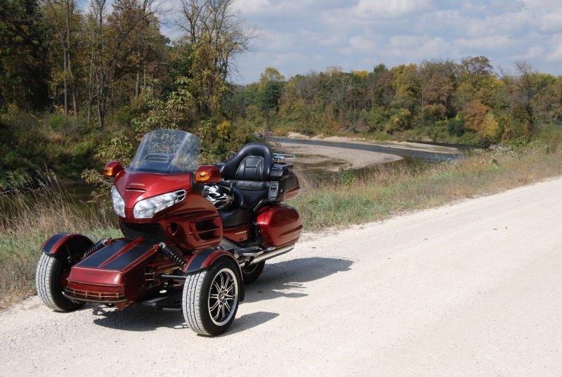 A Honda GL1800, sporting a prototype Endeavor Trike kit