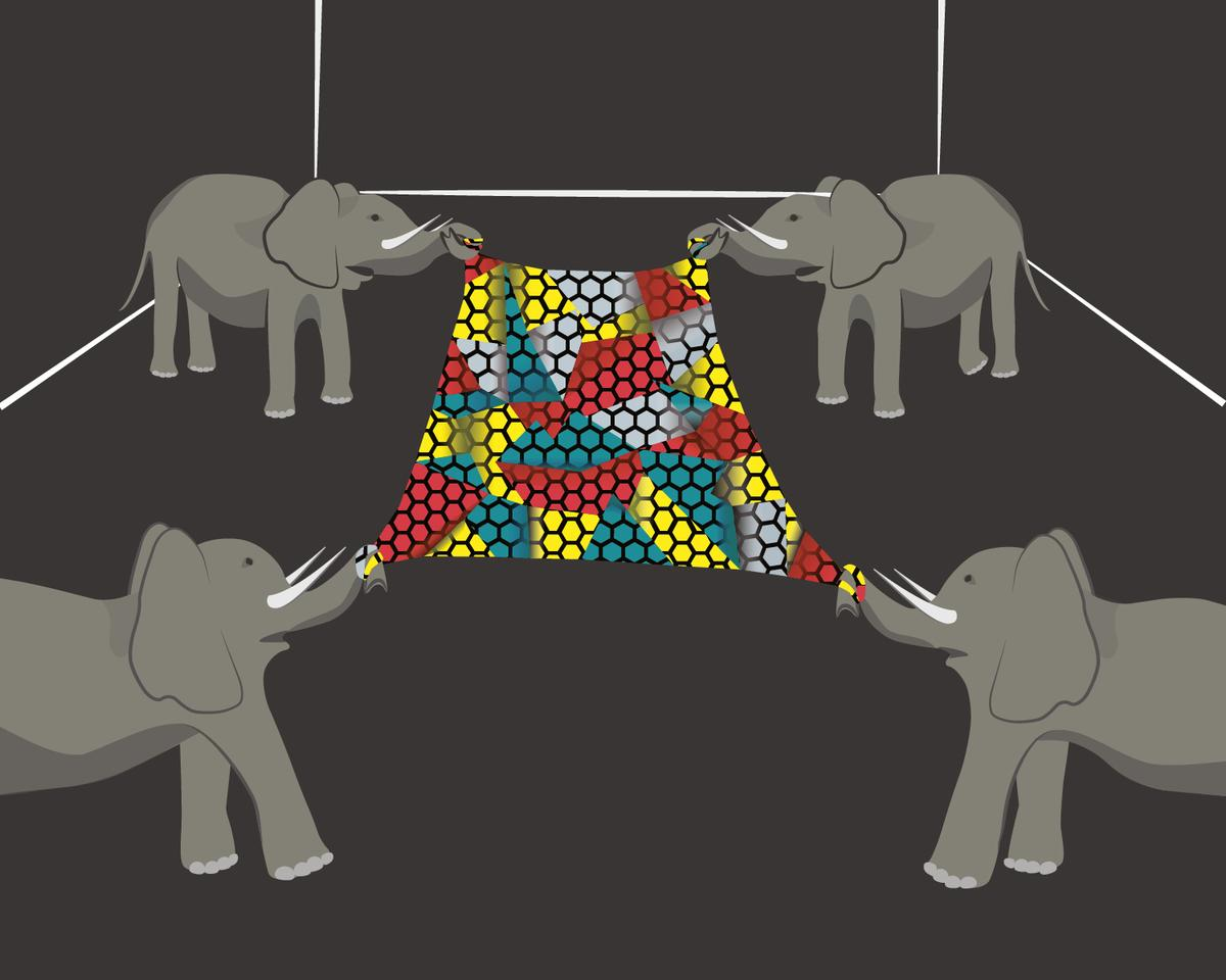"As Prof. Hone at Columbia put it, ""it would take an elephant balanced on a pencil to break through a sheet of graphene the thickness of Saran Wrap"" (Picture: Andrew Shea/Columbia Engineering)"