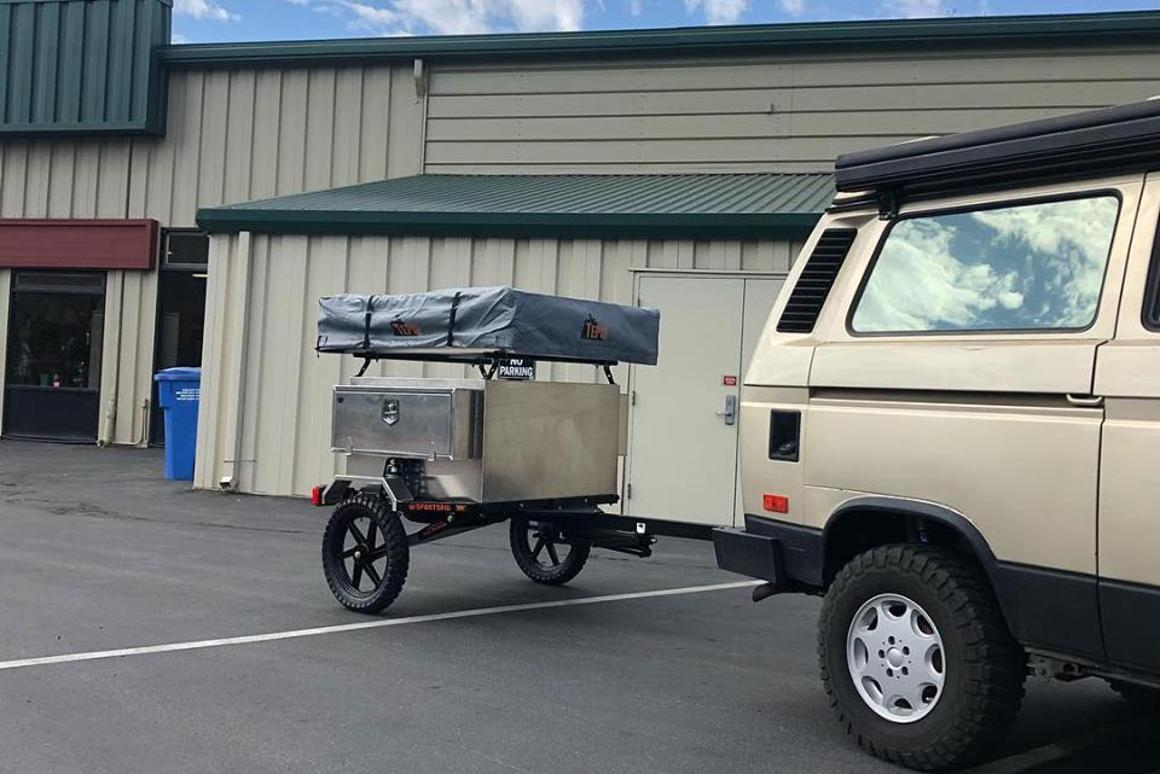 TrailStomper microtrailer might just be the lightest