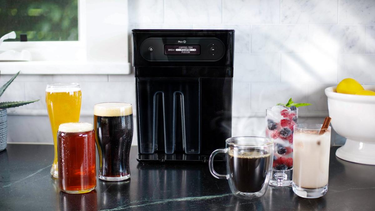 The newest householdbrewing device from PicoBrew can handle beer, coffee, tea and fusion drinks like kombucha