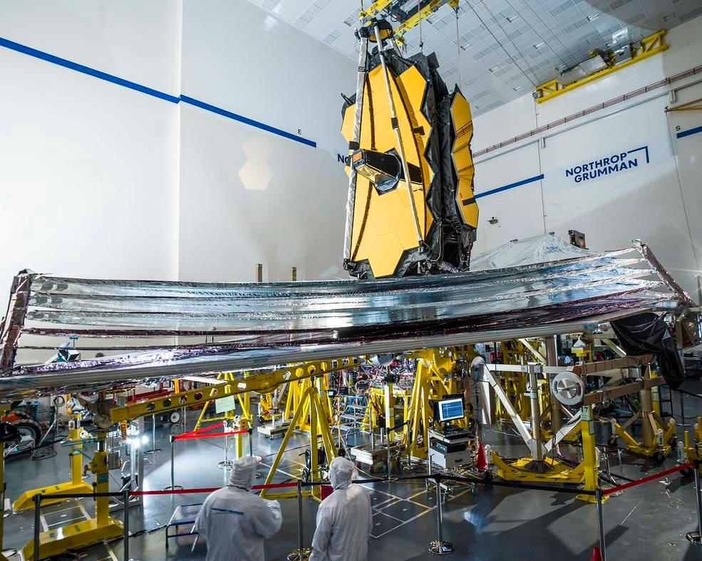 The James Webb Space Telescope undergoes testing at the Goddard Space Flight Center