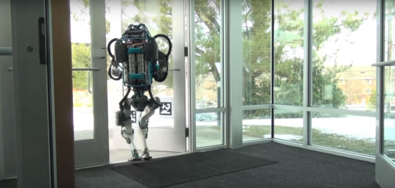 The latest Atlas robot negotiating a door