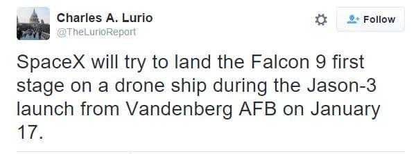 The tweet by Lurio