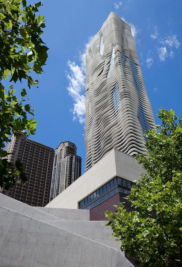 The Aqua tower in Chicago