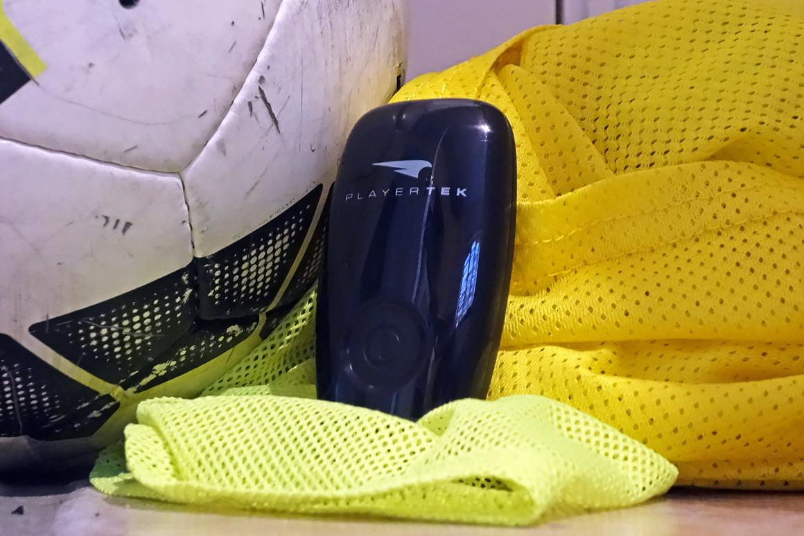 The Playertek tracker measures sprints, distance, and movement on the pitch