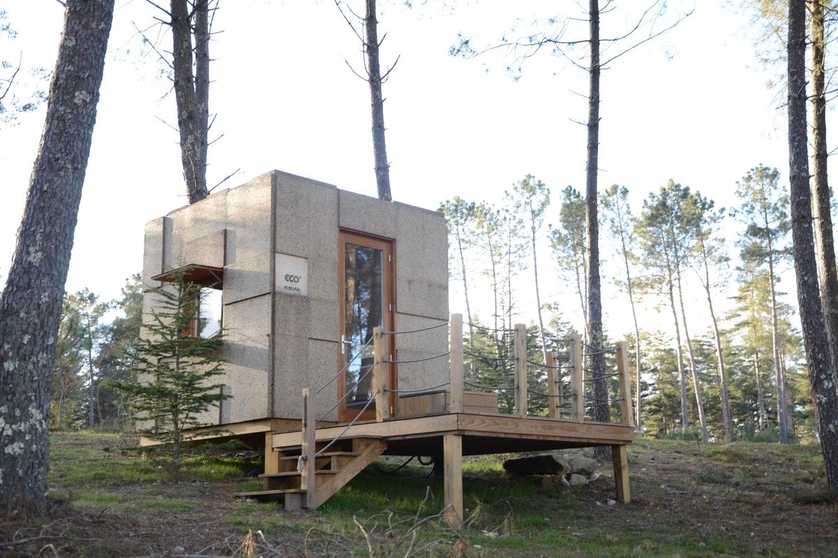The Ecocubo isgeared toward tourism, so you can expect to see it in glamping parks, but is also available for private purchase