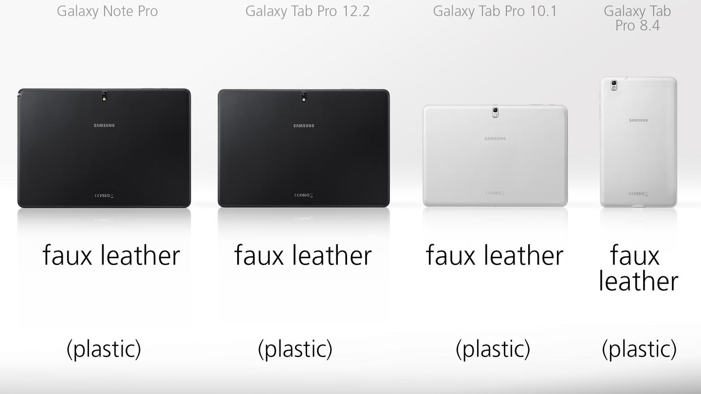 It's pleather all around for Samsung's new set of slates