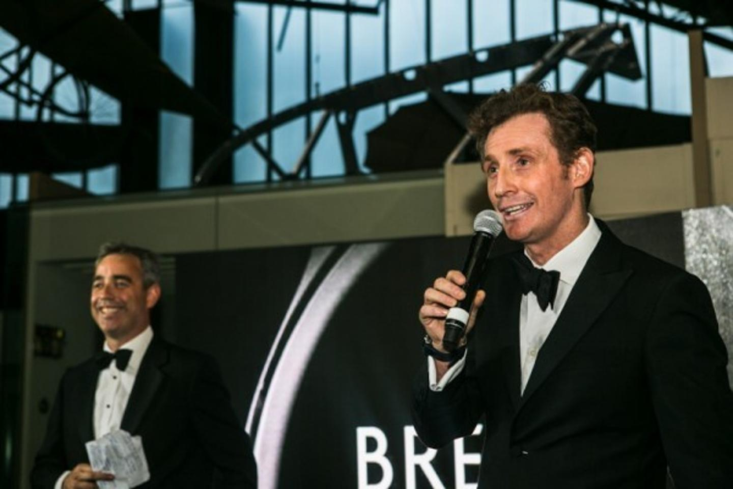 Nick and Giles English announcing the Bremont Wright Flyer
