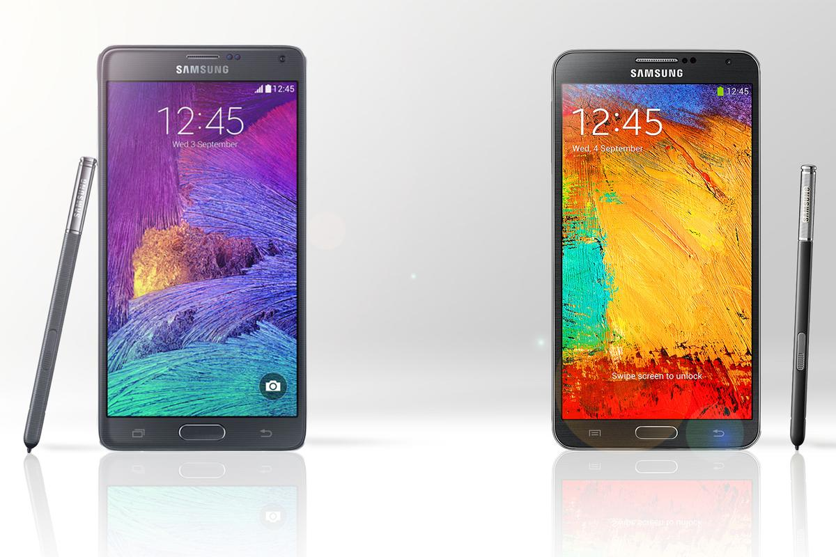Gizmag compares the features and specs of the new Samsung Galaxy Note 4 (left) with last year's Galaxy Note 3