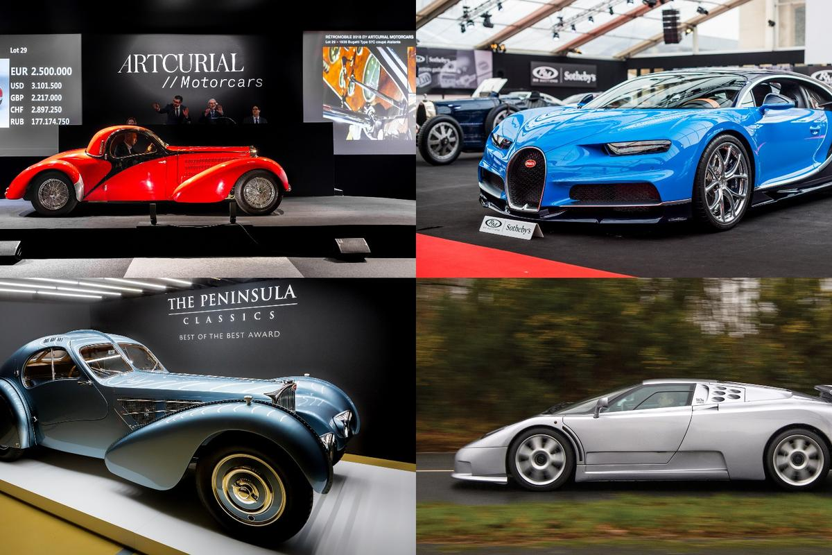 The Chiron (top right) topped the auction listings for the entire week when it fetched €3,323,750 (US$4,082,171)