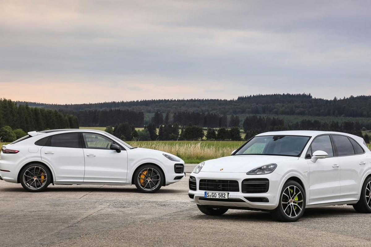 The Cayenne Turbo S E-Hybrid and Cayenne Turbo S E-Hybrid coupe
