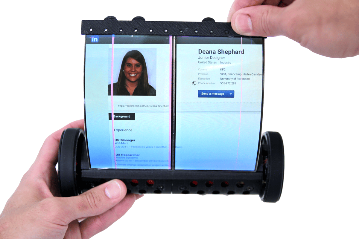 The MagicScroll has a flexible 7.5-inch 2K touchscreen display