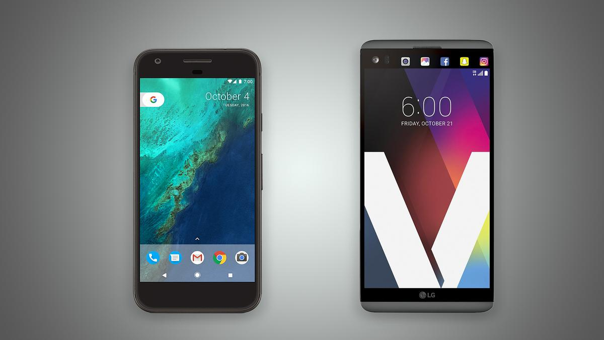 New Atlas compares the features and specs of the Google Pixel XL (left) and LG V20
