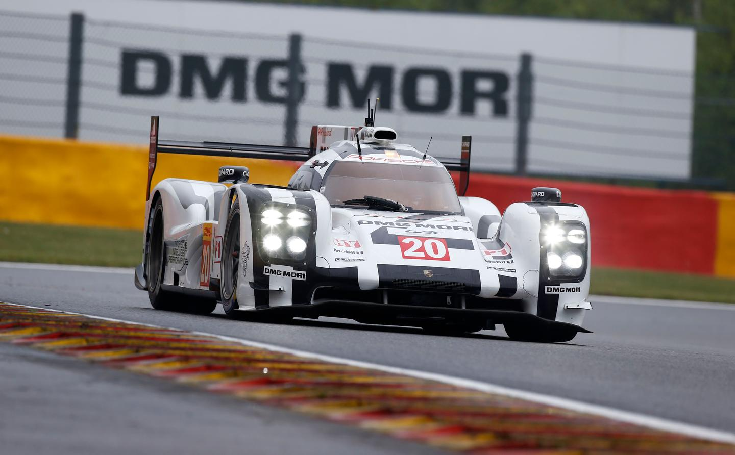 The Porsche 919 Hybrid in action at the 6 Hours of Spa-Francorchamps in Belgium on May 3