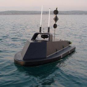 QinetiQ's Sentry - an unmanned surveillance vehicle on a jet-ski platform.