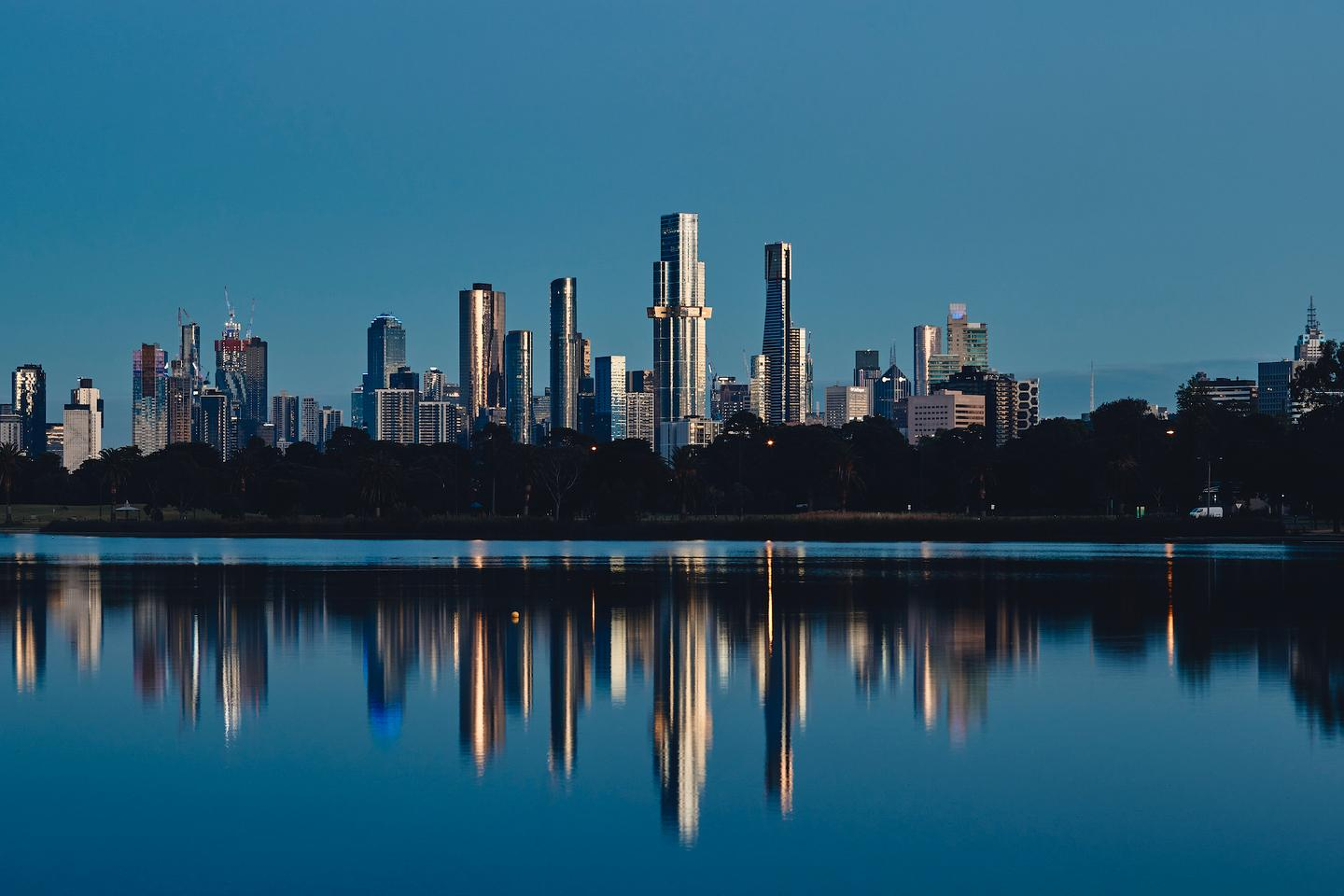 Australia 108 is located in Melbourne, near another tower by Fender Katsalidis, the