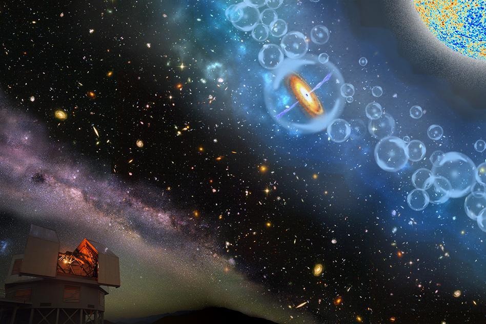 The newly-discovered quasar dates back to a time when the first stars were firing up, just 690 million years after the Big Bang