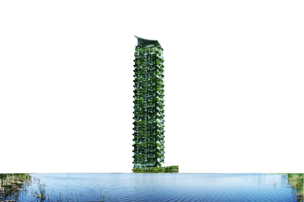 Clearpoint Residencies in Sri Lanka will be the tallest vertical garden in the world when complete